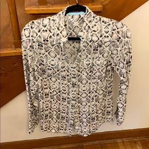 Rock 47 by Wrangler snake print snap shirt